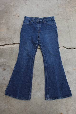 Vintage 1980s Levi's 517 Orange Tab Denim Jeans - La Lovely Vintage
