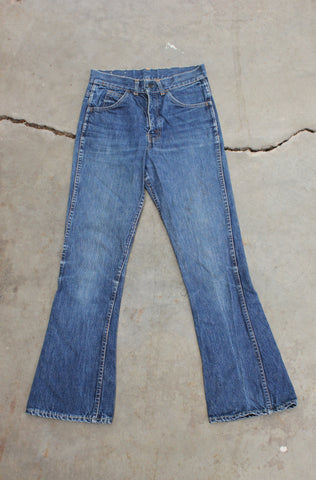 "Vintage 60s/70s Levi's 646 ""Big E"" Denim Jeans - La Lovely Vintage"