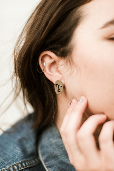 Therese Kuempel Designs - Face Earrings