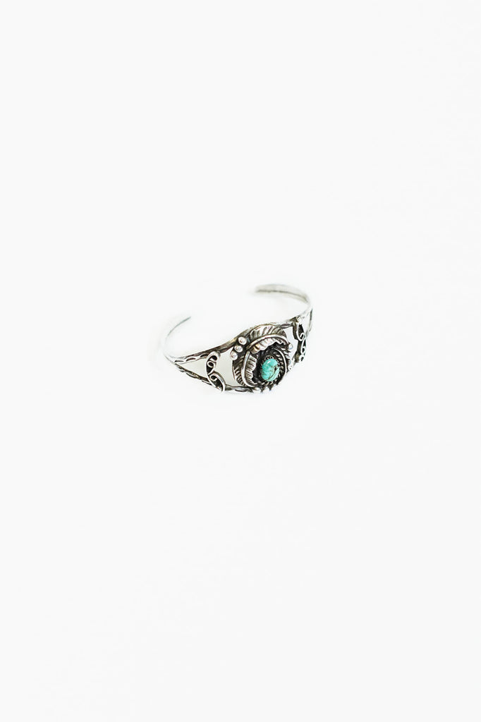 Vintage Turquoise Sterling Silver Cuff (VSSC4)