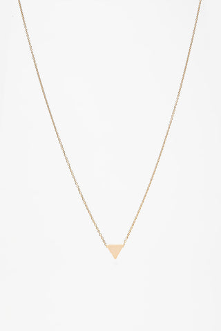 Gold Triangle Necklace - La Lovely Vintage