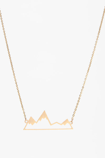 Small Mountain Silhouette Necklace