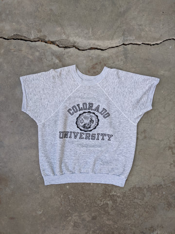 Vintage 1970's Champion Short Sleeve Colorado University Sweatshirt