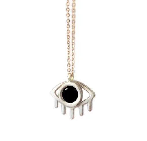 Therese Kuempel Designs - Onyx Eye Necklace - La Lovely Vintage