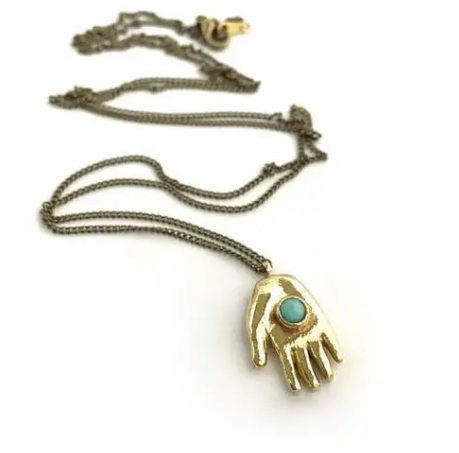 Therese Kuempel Designs - Giver Necklace (Hand) - La Lovely Vintage