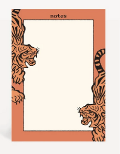 Cai & Jo - Tiger Notepad - La Lovely Vintage