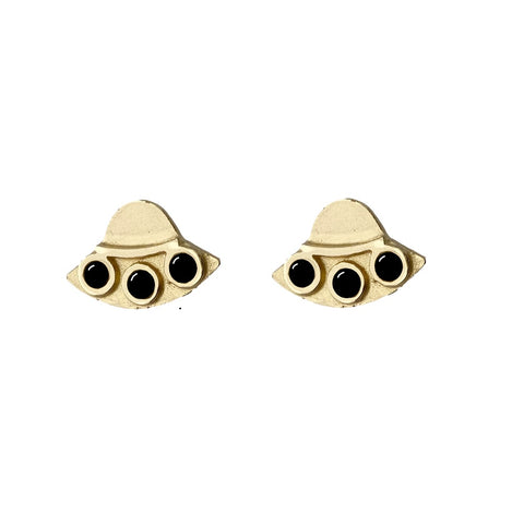 Therese Kuempel Designs - UFO Earrings w/ Onyx