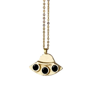Therese Kuempel Designs - UFO Necklace w/ Onyx