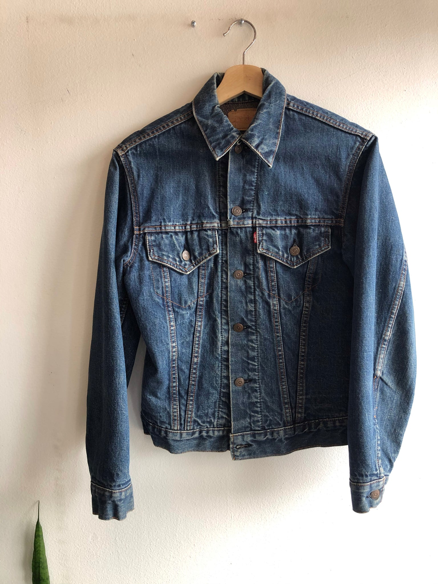 Vintage 1960's Big E Levi's Type III Troy Blanket Lined Denim Trucker Jacket