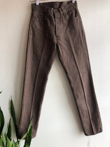 Vintage 1980's Levis 501s Brown Denim Jeans