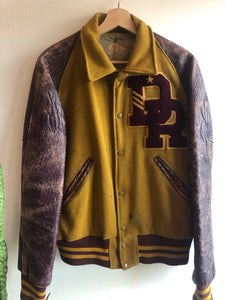 Vintage 1950s/1960s Gold and Maroon Varsity Jacket