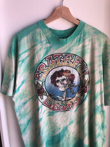 "Authentic 1988 Vintage Grateful Dead ""Bertha"" Tour Shirt"