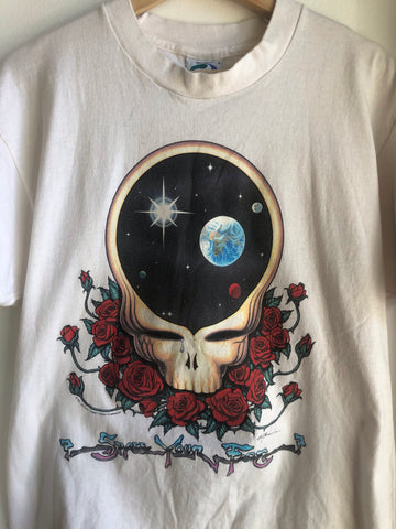 Authentic 1992 Vintage Grateful Dead Steal Your Face Tour Shirt