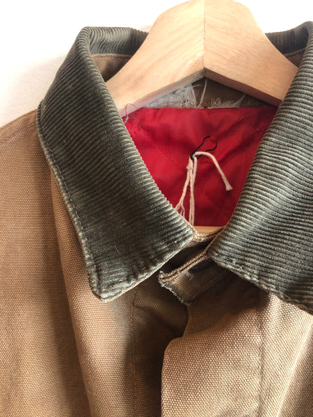 Vintage 1950/1960's Powrhouse Duck Canvas Chore Coat w/ Liner