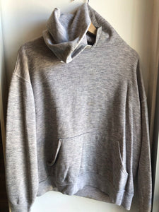 Vintage 1960s Double Face Grey Hooded Sweatshirt