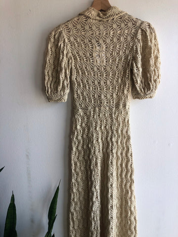 Vintage 1950's Knitted Cotton Dress