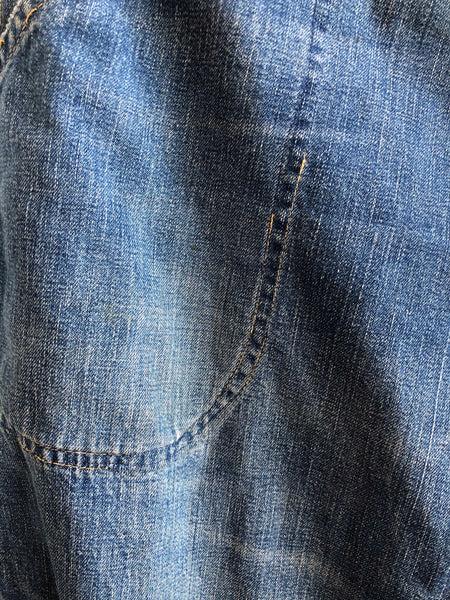 Vintage 1940/1950's Crown Flannel-Lined Side Zip Jeans