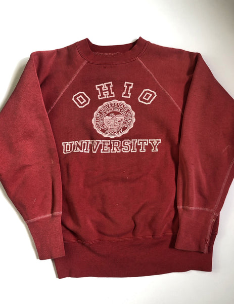 Vintage Sun-Faded 1960's Ohio University Sweatshirt