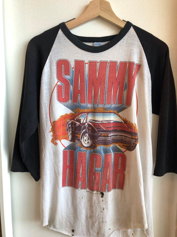 Authentic Vintage 1984 Sammy Hagar Tour Baseball Tee