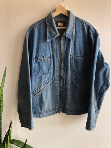 Vintage 1960's OshKosh Denim Work Jacket