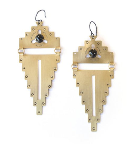 LUNASOL Designs - Plateau Earrings - La Lovely Vintage