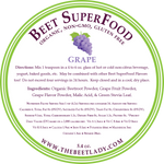 The Beet Lady Beet SuperFood Ingredients (Grape)