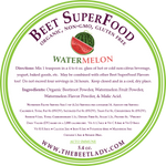The Beet Lady Beet SuperFood Ingredients (Watermelon)