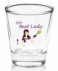Beet Lady Shot Glass