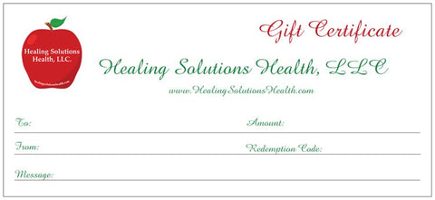Gift Certificate - Give The Gift Of Health And Healing