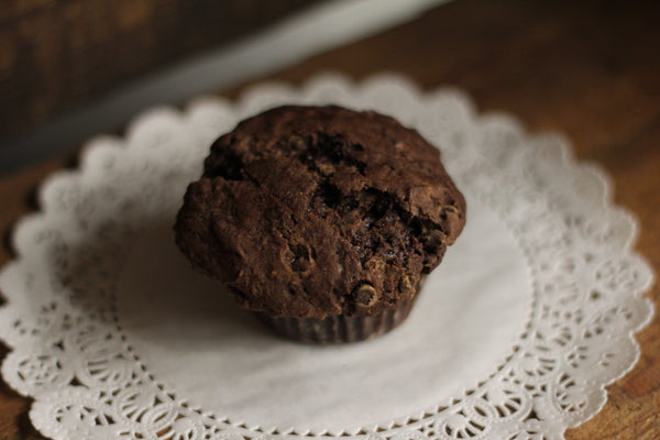 Muffins: Cocoa Loco. 850g. 6 Large Cafe Sized Muffins Deep Double-Chocolatey Love!