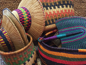 Traditional African baskets