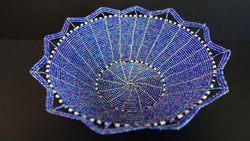 Beaded wire basket