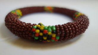 Maasai bangle brown