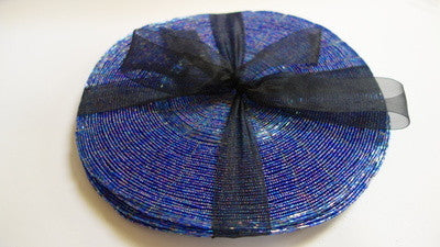 Set of 6 wire beaded placemats