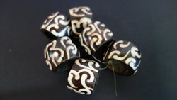 Batik bone serviette rings