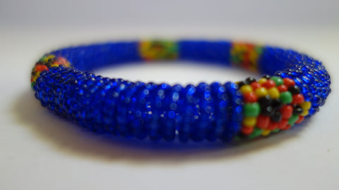 Maasai bangle translucent blue
