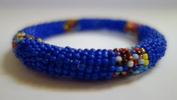 Maasai bangle blue