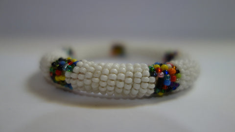 Maasai bangle white