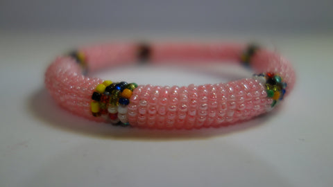 Maasai bangle pearl pink