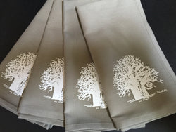 Set of Four Taupe Baobab Tree Napkins