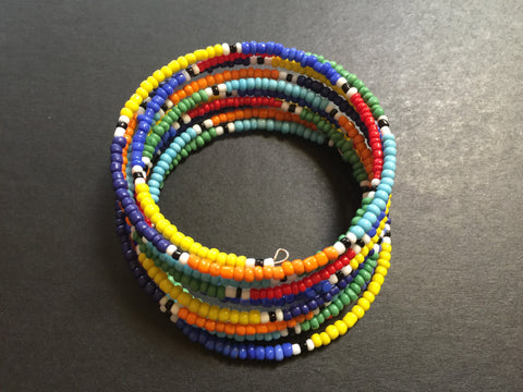 Maasai beaded wrap around bracelet