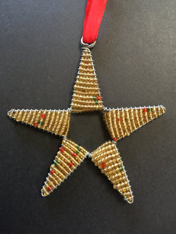 Beaded Star Gold