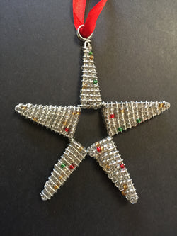 Beaded Star Silver