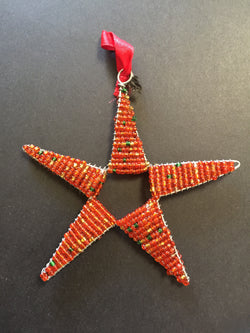Beaded Star Red