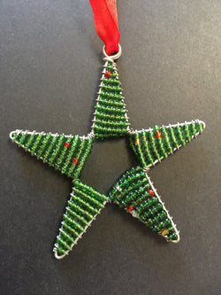 Beaded Star Green