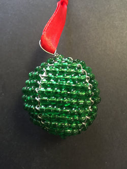 Beaded Ball Green