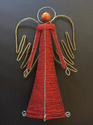 Beaded Angel Red Large