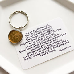 salt and light keychain