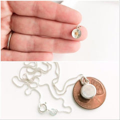 sterling mustard seed charm - silver