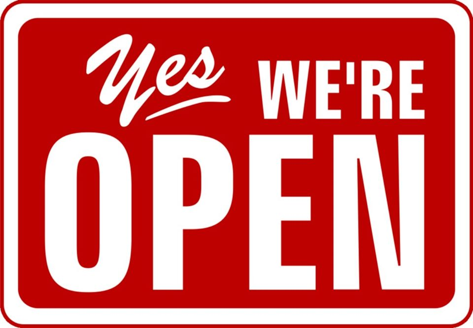 YES WE ARE OPEN!!!